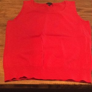 TALBOTS TOMATO RED, SLEEVELESS TANK TOP SMALL, NEW